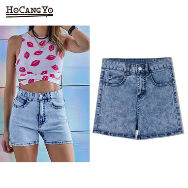High Waist Jeans Slim Stretch Washed Skinny Casual Cotton Shorts
