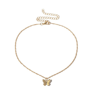 Bohemian Cute Butterfly Choker Necklace