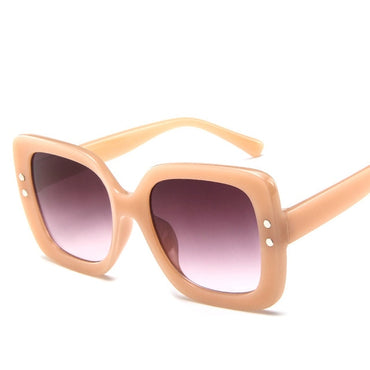 Square Retro Luxury Sun Glasses Oversized Sunglasses