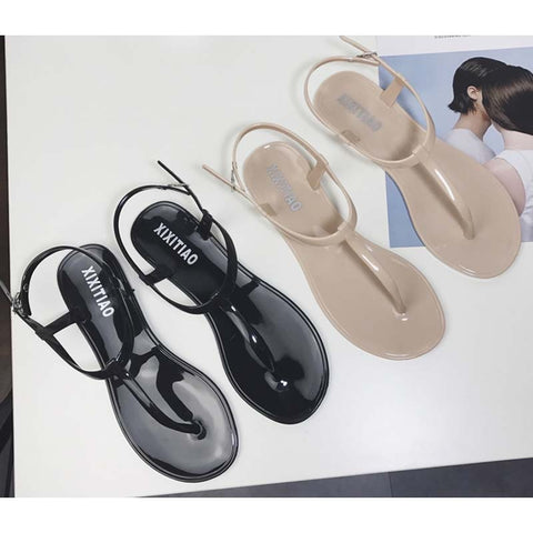 Simple Pinch sandals Female T-shaped Sandwich toe Beach