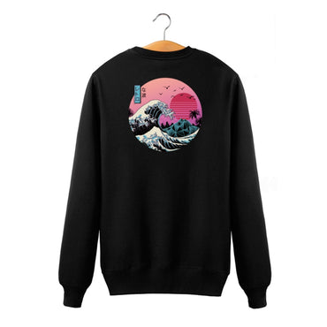 Sweatshirts O-Neck Hoodies Anime Vaporwave Pullover cotton