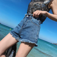 High Waist Denim Shorts Casual Feminino Slim Short Plus Size