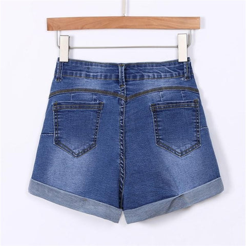 Short Pants Blue Pant Low Waisted Washed Ripped Mini Hole Short