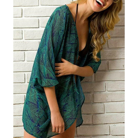 Bikini Cover Up Swimwear Beach Bathing Kimono Cardigan