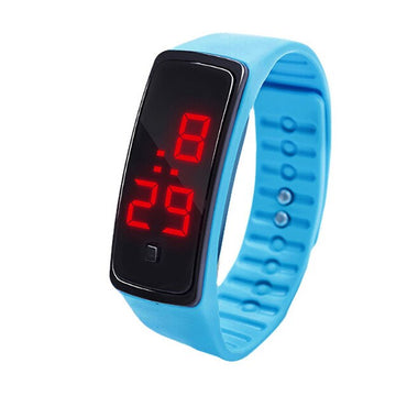 Boy Sport Watches Clock LED Digital Display Bracelet