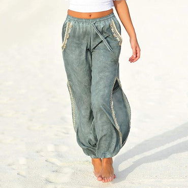 Baggy Pant Bohemian Trousers Hippie Side Slit Harem Pants