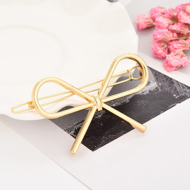 Fashion Boho Hairpin Trendy Solid Bohemian Hair Bows Accessories