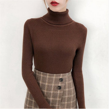 Knitted Jumper turtleneck Tops Pullovers Casual Sweaters