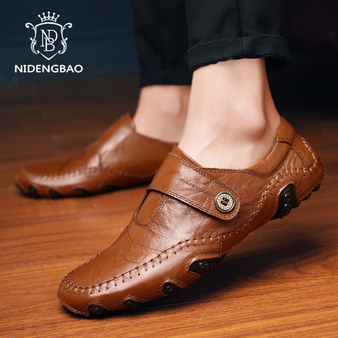 Shoes luxury Brand Leather Casual Driving Oxfords Shoes