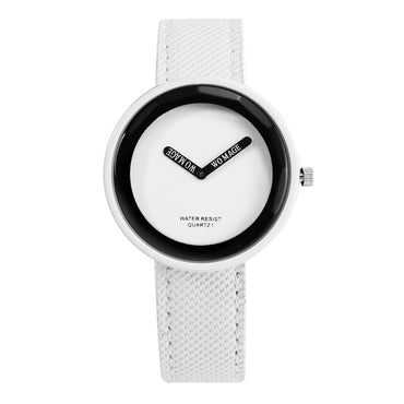 Leather Ladies Watch Young Girl Watch Simple Clock