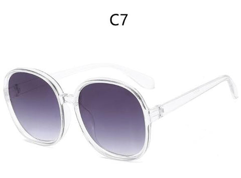 Plastic Classic Vintage Sunglasses Oversized Round Frame