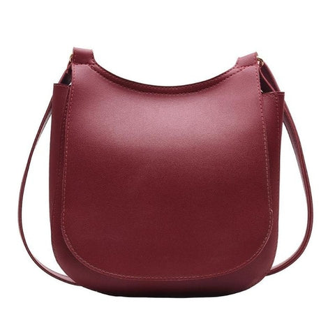 Fashion Wide Solid Color Shoulder Handbags Female Simple