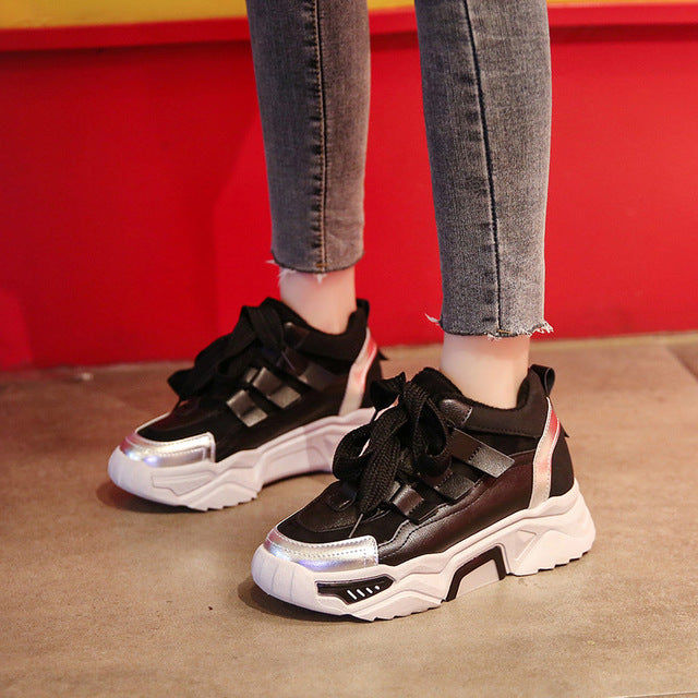 Casual Shoes Mesh Sneakers Platform Flats Chunky Shoes