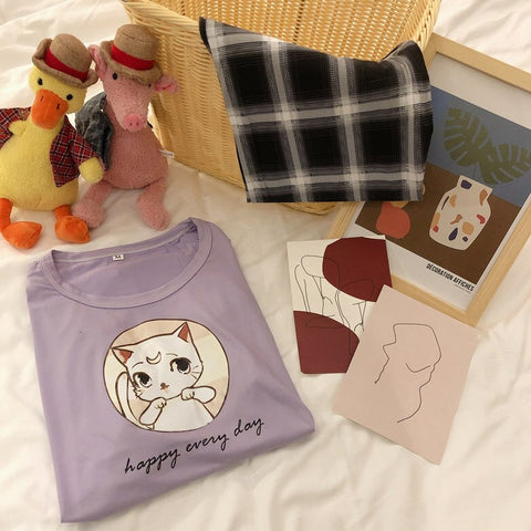 Pajama Sets Long Sleeve &Pants Casual Female Pyjamas Sleepwear