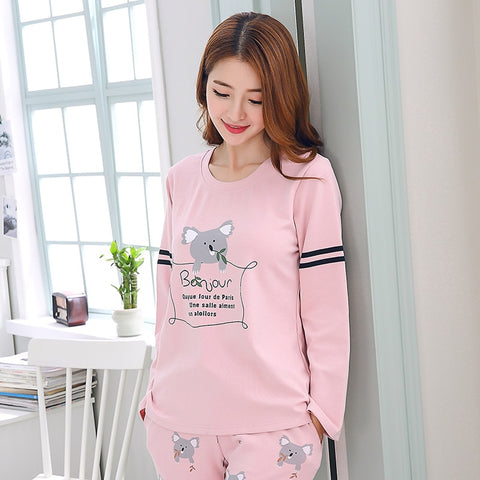 Pajamas Thin Cotton Loose Casual Pyjama Sets Sleepwear