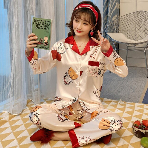 New Arrinal Female Pajamas Casual Sleepwear Soft Comfortable