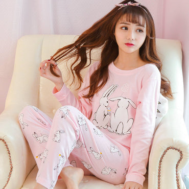 Casual Pajamas Cotton Made Good Quality 2 Pcs Loose Comfortable Sleepwear