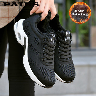 New White Fashion Thick Bottom Platform Sneakers Casual Shoes