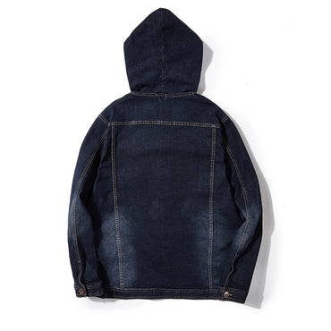 Cargo Casual Denim Jackets Coats Hooded Motorcycle Loose Style