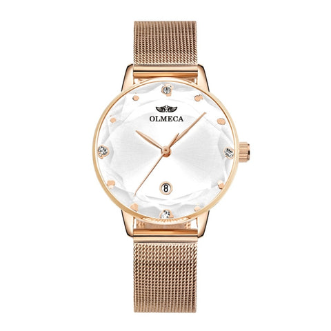 Luxury Brand Dress Reloj Mujer Water Resistant Clock Wrist Watch