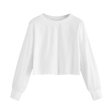 Fashion Streetwear Casual Long Sleeve White Hoodie Sweatshirt