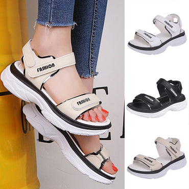 Sports Sandals Ladies Platform Shoes Mid Heel Muffin Thick Bottom