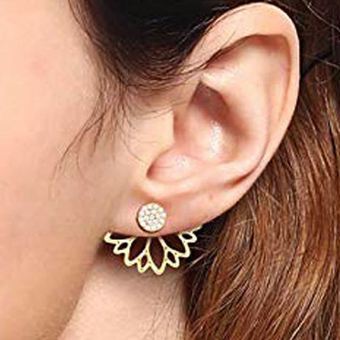 Fashion Jewelry Gold Silver Rhinestones Earrings
