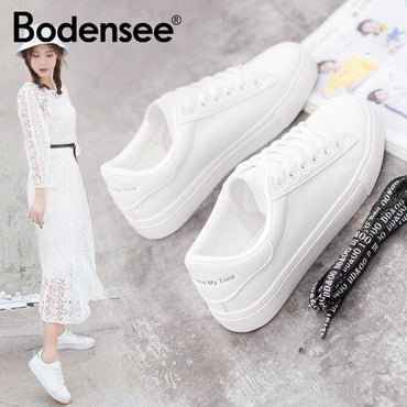 White Sneakers Canvas Shoes Fashion Vulcanize Shoes