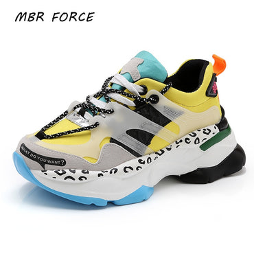 chunky sneakers thick bottom tennis vulcanized shoes