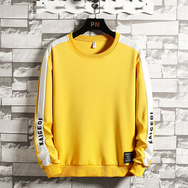 Hooded Sweatshirt New Casual Solid Pullover Side Letter Printing