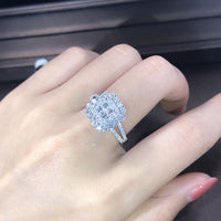 Luxury Sparkly Big Stone Zircon Silver Color Ring