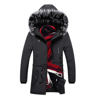 Degree Thicken Warm Parkas Hooded Fleece