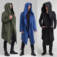 Fashion Cardigan Hoodie Warm Hooded Solid Coat