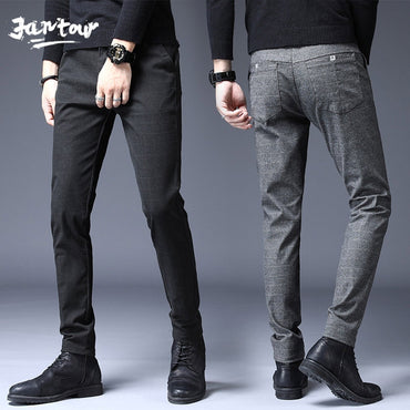 Fashion High Quality Pants Straight Long Male Classic