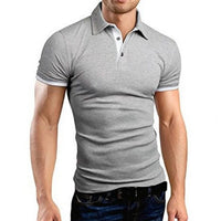 Polo Shirt New Short Sleeve Turn-over Collar Slim Tee Tops