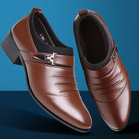 Real Cowhide Leather Oxford Shoes Comfortable