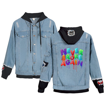 Casual Warm/comfortable Denim sweatshirt Print jacket