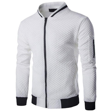 Male Brand Casual Zipper Jacket Stand-Neck Sudaderas