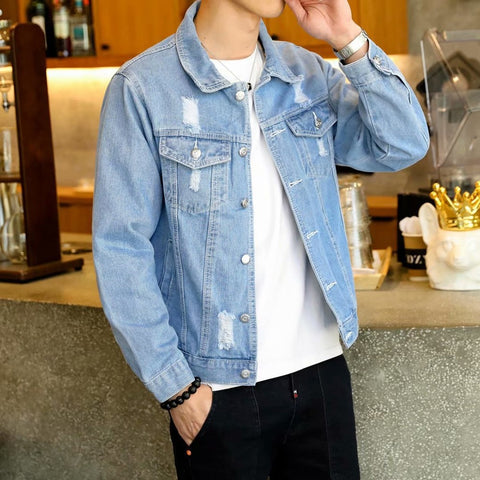 Hip Hop Retro Denim Jacket Street Casual Pilot Fashion