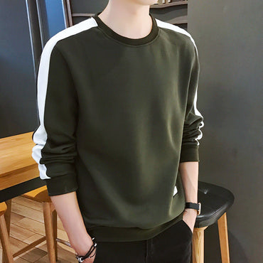 Hoodies Long Sleeve Solid Color Army Green Sweatshirt