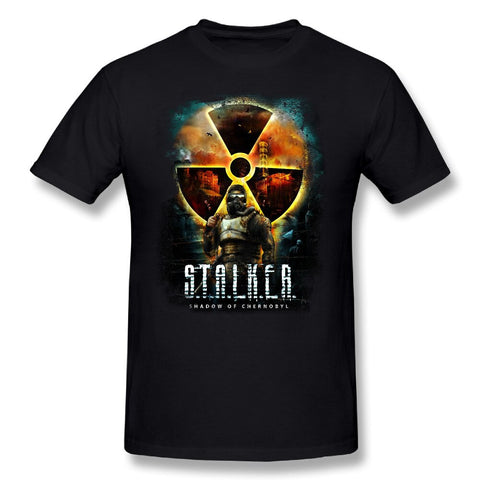 Casual Tees Shirts Stalker Shadow of Chernobyl Cool T Shirts