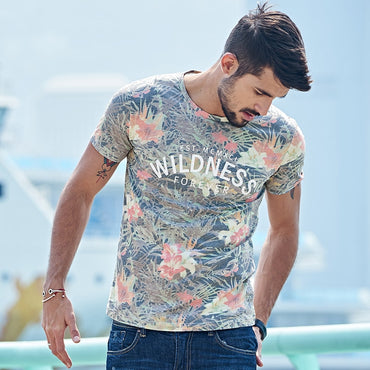 Cotton Print Brand T-shirt Short Sleeve Tee Shirt