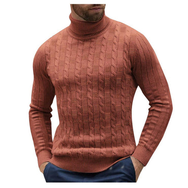 Sweater Warm Knitted Raglan High Neck Turtleneck Pullover