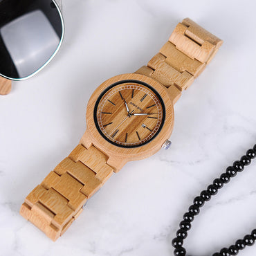 Drop Shipping Designer Bamboo Wooden Watches