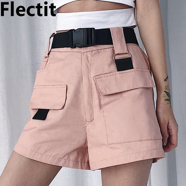 Cargo Shorts Korean Fashion High Waist Mini Shorts