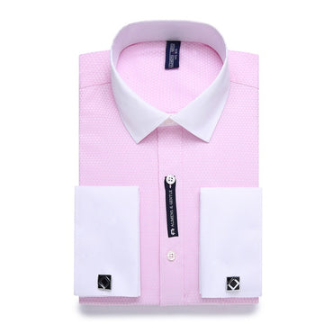 Striped French Cufflinks Casual Dress Shirt