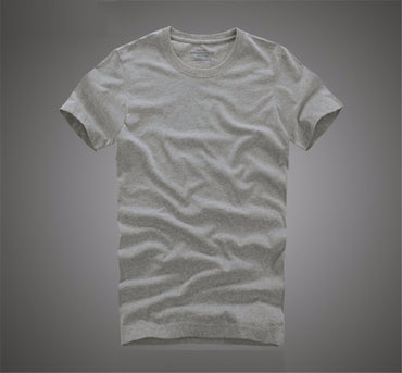 cotton solid color O-Neck short sleeve t shirt
