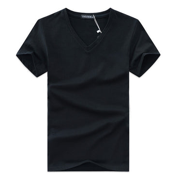 Tops Tees V Neck Short Sleeve Slim Fit shirt