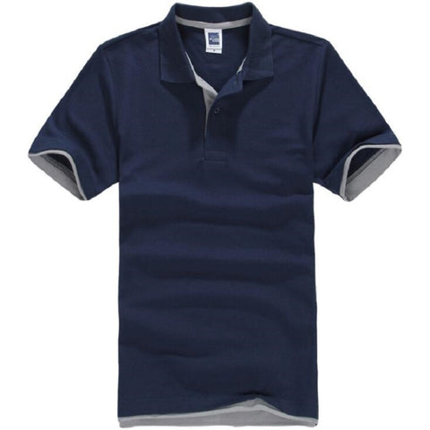 Brands Camisa masculina Cotton Short Sleeve Polo Shirt