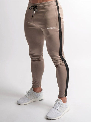 Fashion Stitching Pants Fitness Casual Elastic Pants